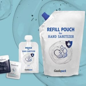 Gualapack Hand sanitizer flexible packaging